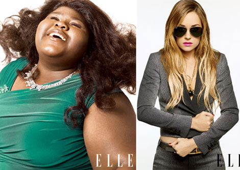 Gabourey Sidibe Lauren Conrad Elle October 2010