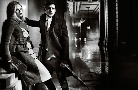 Gabriella Wilde Roo Panes Burberry Fall 2012 Campaign photographed by Mario Testino