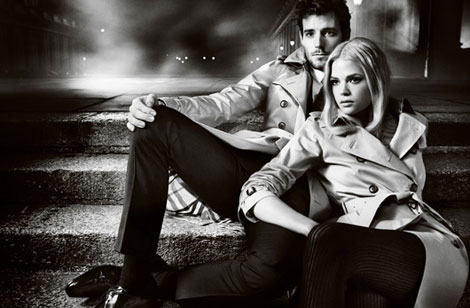 Gabriella Wilde Roo Panes Burberry Fall 2012 Ad Campaign