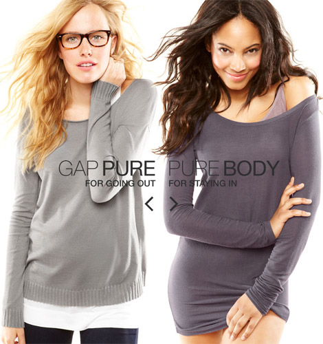 Try Oversize Slouchy Tees And Jersey Basics: Gap Pure!