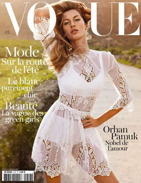 Gisele Bundchen Vogue Paris April 2011 cover