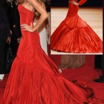 Gisele Bundchen red McQueen dress fw05 Met Gala 2011