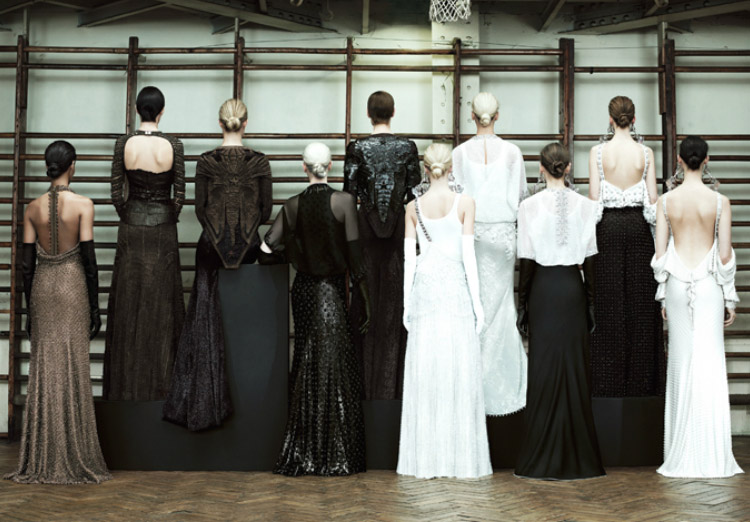 Givenchy Couture Spring 2012 collection back view