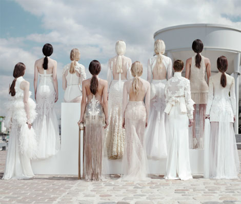 Givenchy Haute Couture Fall 2011 all white