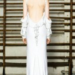 Givenchy Couture Spring 2012 white dress back detail