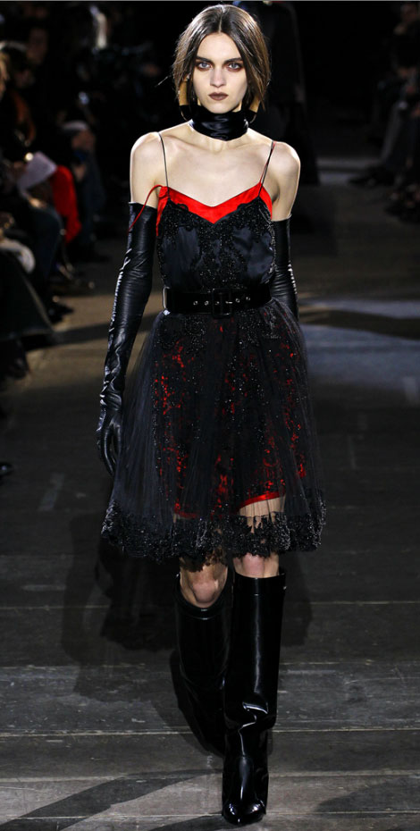 Givenchy fall 2012 lace