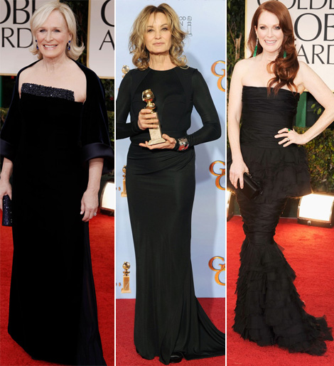 2012 Golden Globe Awards Red Carpet Black Dresses