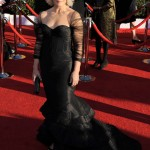 Glenn Close black Zac Posen dress 2012 SAG