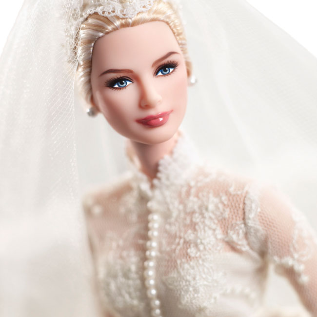 Grace Kelly Barbie doll bride detail