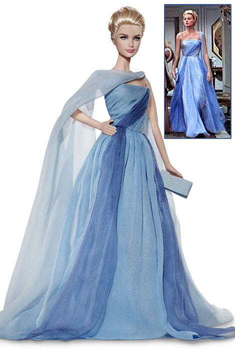 Grace Kelly blue dress How to catch a thief Barbie