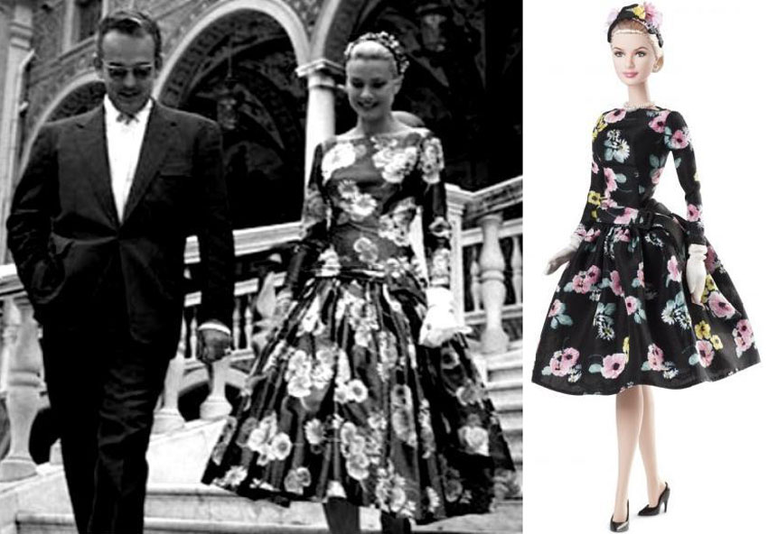 Grace Kelly dress Barbie