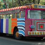 Graffiti Knitting bus