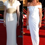 Gretchen Mol Linda Grey white dresses 2012 SAG Awards Red Carpet