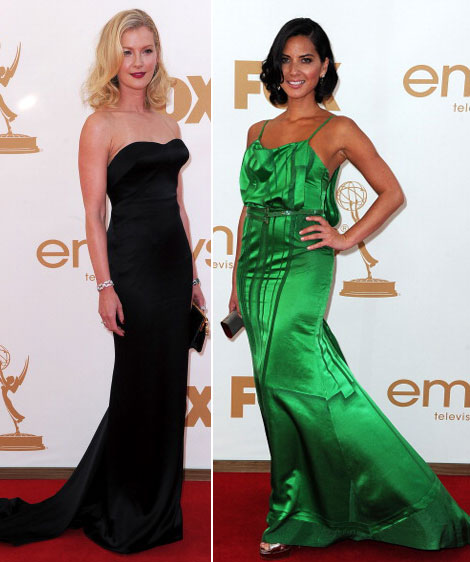 Gretchen Mol Olivia Munn Emmy Awards 2011 Red Carpet