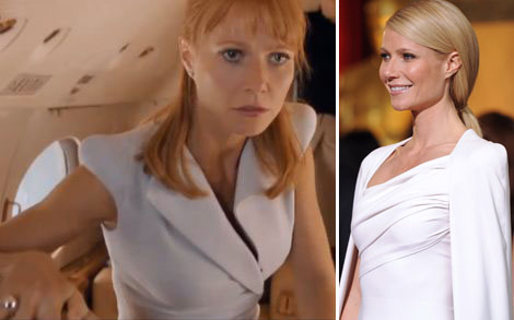 Gwyneth Paltrow's Avengers Wardrobe: Tom Ford Light Gray Dress