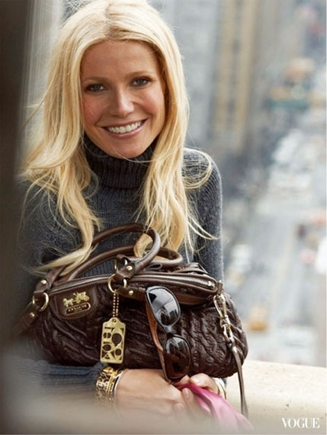 Gwyneth Paltrow Coach ad campaign bags