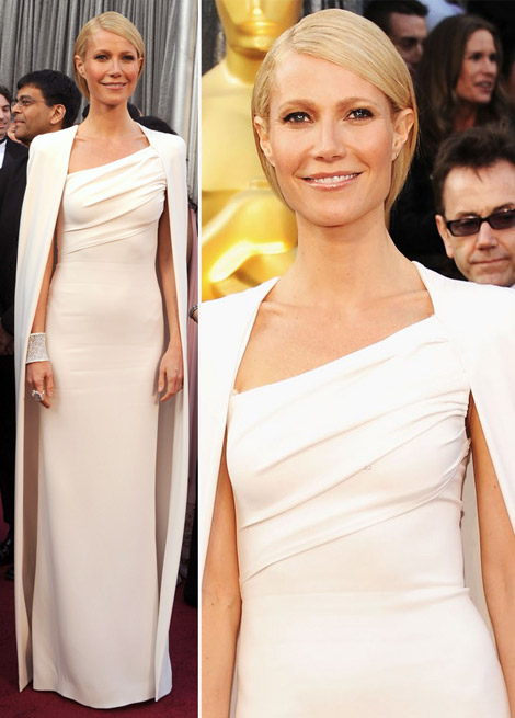 Gwyneth Paltrow In Tom Ford White Dress For 2012 Oscars