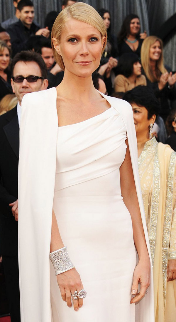 Gwyneth Paltrow in white for 2012 Oscars