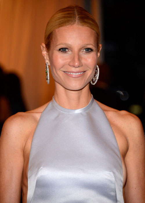 Gwyneth Paltrow In Prada Short Dress For Met Gala 2012