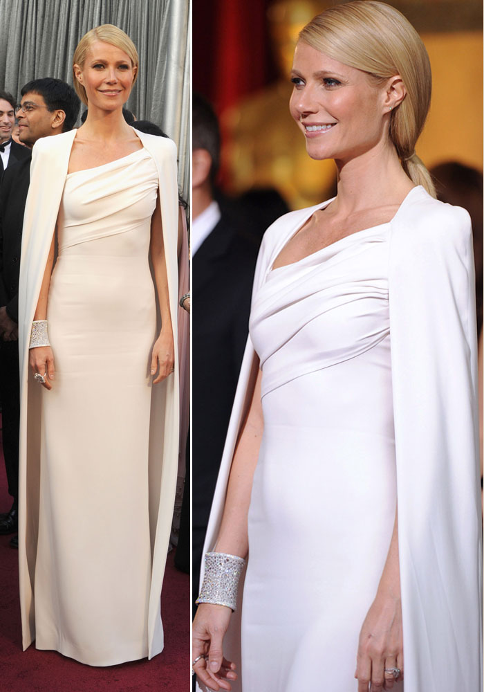 Gwyneth Paltrow s Oscars Avengers tribute Tom Ford white dress ...