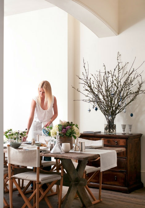 Gwyneth Paltrow s special table