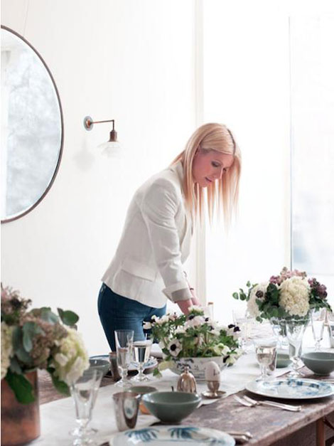 Gwyneth Paltrow s table