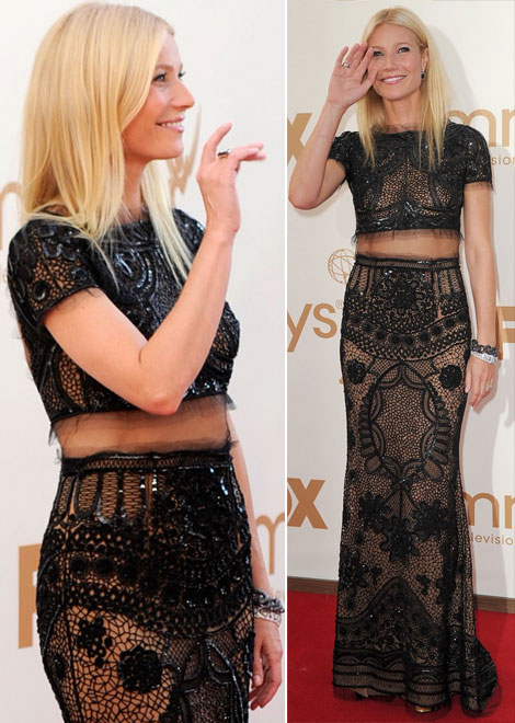 Gwyneth Paltrow see through Pucci dress 2011 Emmy Awards