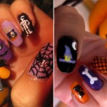Halloween decorated nails