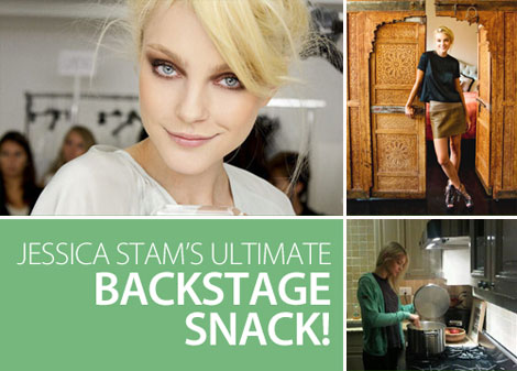 Healthy Model Food Jessica Stam