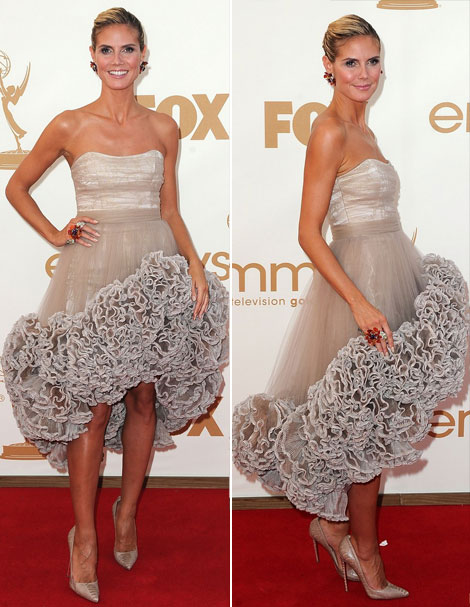 Heidi Klum Christian Siriano dress Emmys 2011
