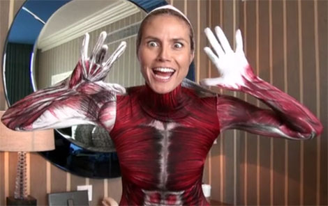 Heidi Klum Invisible Woman with no skin Halloween costume