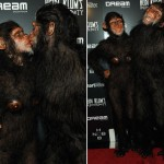 Heidi Klum Seal as monkeys 2011 Halloween costumes