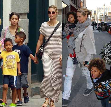 Heidi Klum's Boys Now Sport Mohawks