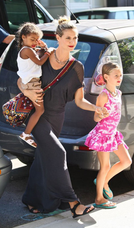 Heidi Klum s daughters wear same lipstick as their mother Heidi Klum's Daughters Wear The Same Lipstick As Their Mother