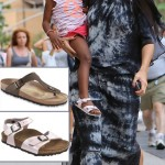 Heidi Klum s sandals Birkenstock Gizeh daughter wears Birkenstock sandals
