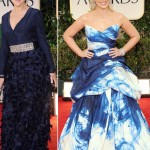Helen Mirren Sarah Michelle Gellar blue dresses 2012 Golden Globes