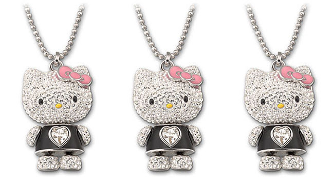 Hello Kitty Swarovski crystals necklace pendant