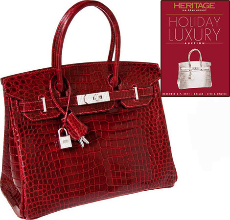 Hermes Birkin red Alligator bag