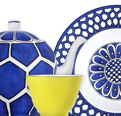 Hermes Bleu D Ailleurs tableware series