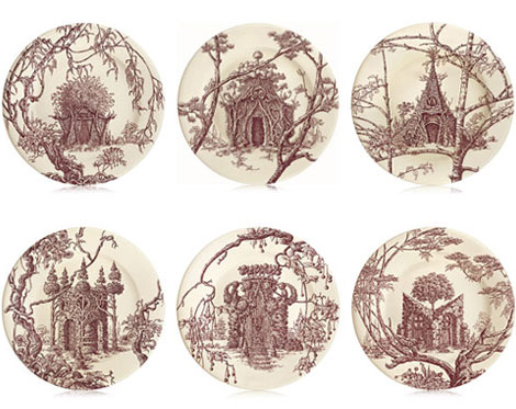 Hermes Les Maisons Enchantees plates