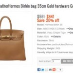Hermes counterfeit goods sites banned