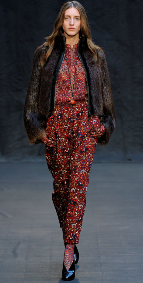 Hermes fall winter 2012 mixing prints