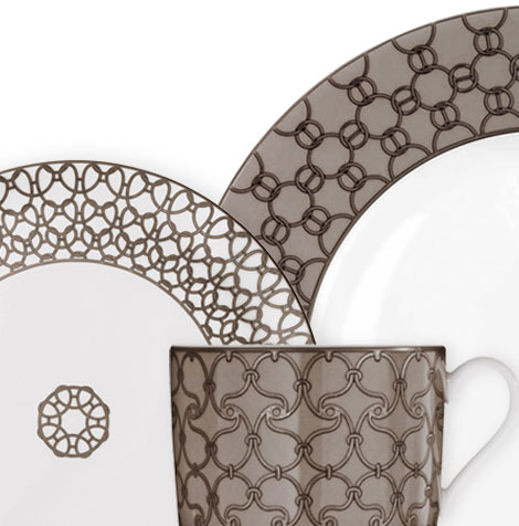 Hermes plates Fil d Argent