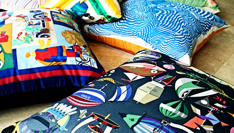 Hermes For The Home: Hermes Scarves Into Pillowcases