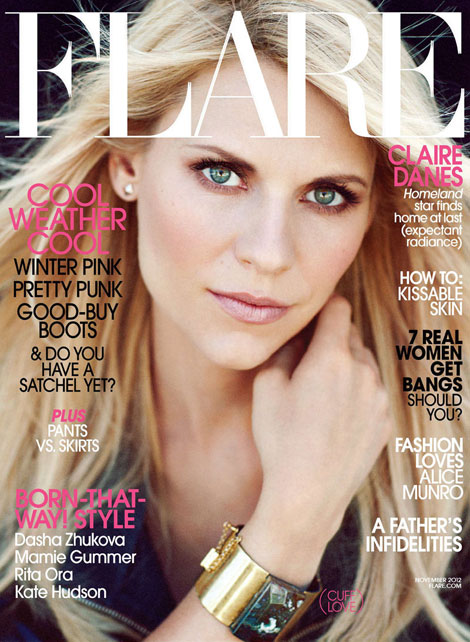 Homeland's Claire Danes' Flare Cover November 2012