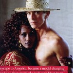 Iman David Bowie magazine photo