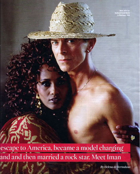 Iman And David Bowie Fabulous Cover
