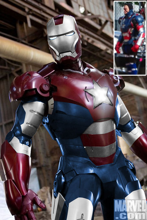 Iron Patriot from Iron Man 3 Iron Man 3 Changes Suit!