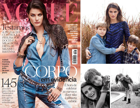 Isabeli Fontana Vogue Brazil June 2012 cover