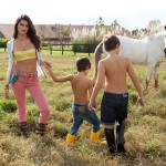 Isabeli Fontana in Vogue with her boys